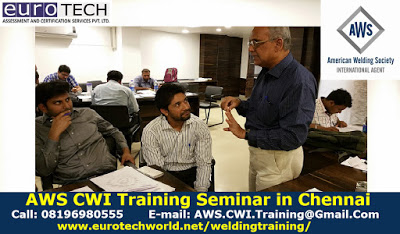 AWS-CWI Certification | Certified Welding Inspector Exam Training Course in Chennai, Tamil Nadu India