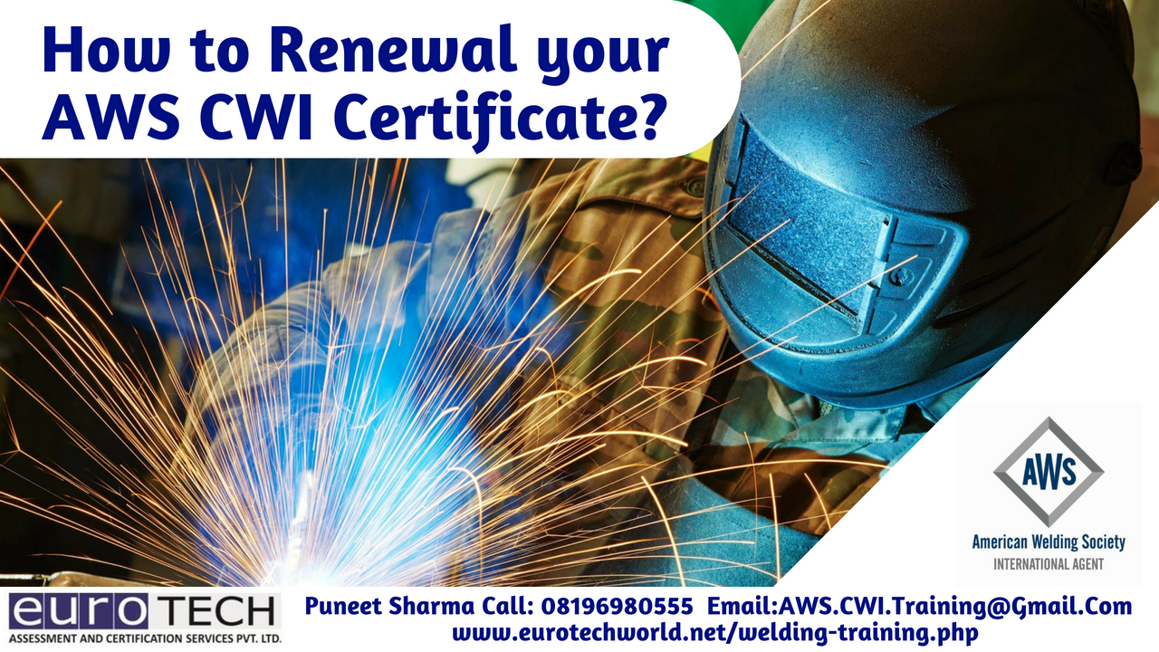 How to Renewal your AWS CWI Certificate?